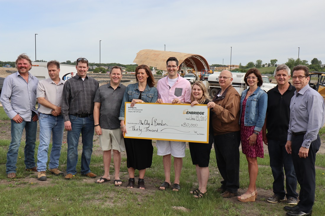 Brandon Riverbank Discovery cheque presentation