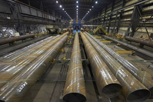 Pipe in steel mill