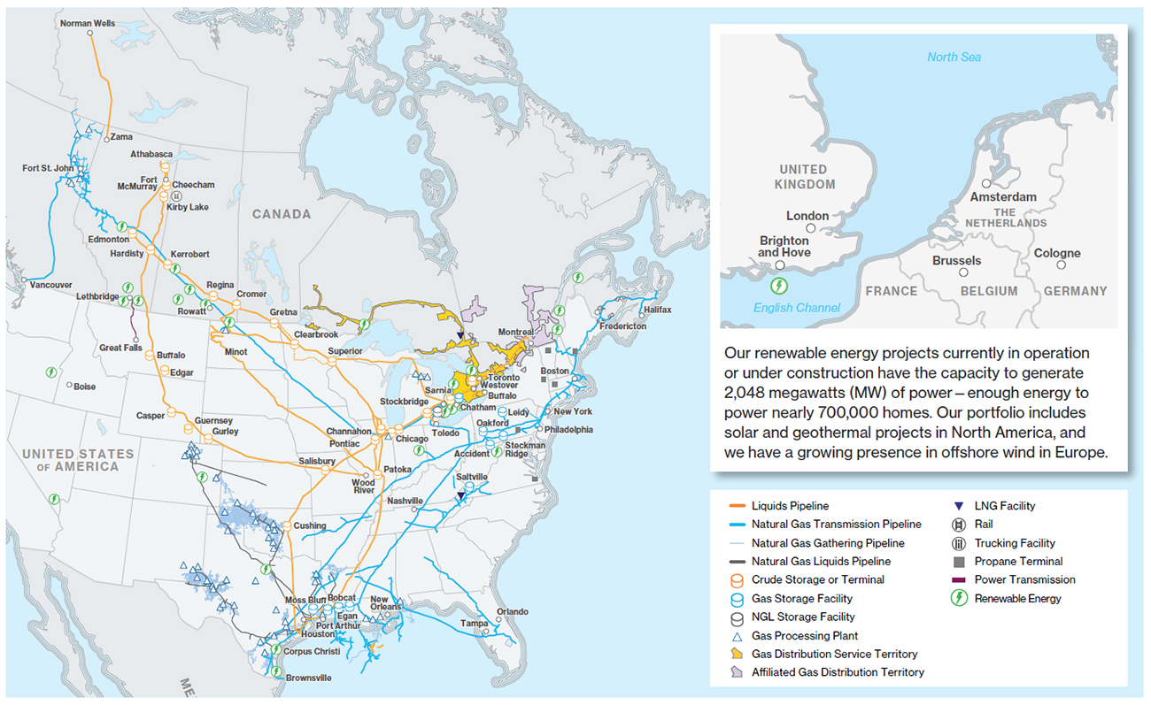 Enbridge Infrastructure Map
